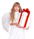 anioła pudełkowaty dziecka prezent Obrazy Stock