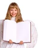 anioła sztandaru książki kostiumu dziewczyna Obrazy Stock