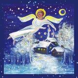 anioła yule royalty ilustracja