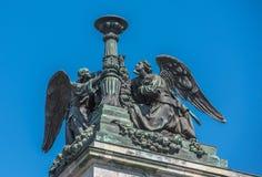 Aniołowie świętego Isaac's katedra, StPetersburg, Rosja Fotografia Stock