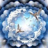 Aniołowie światło ilustracja wektor