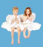 aniołowie dwa Zdjęcia Royalty Free