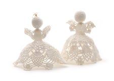 Aniołowie jako Bożenarodzeniowa dekoracja Fotografia Royalty Free