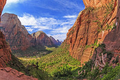 Aniołowie Ląduje ślad, Zion park narodowy, Utah Fotografia Royalty Free