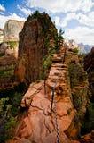 Aniołowie Ląduje przy Zion parkiem narodowym, Utah Zdjęcie Royalty Free