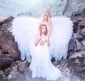 Aniołowie na plaży Zdjęcie Royalty Free