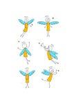 aniołowie ustawiający Fotografia Royalty Free
