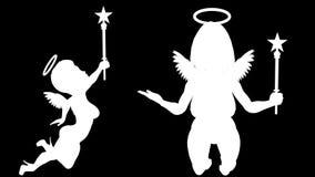 aniołowie ustawiający 21 pętli animacja Alfa kanał Alfa matte 4K zbiory