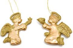 aniołowie złoci dwa zdjęcie royalty free