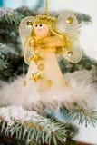 anioły święta śniegu drzewo Fotografia Stock