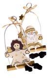 anioły święta bałwana zabawki. obraz stock