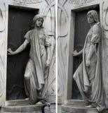anioły strzeże mauzoleum Zdjęcia Royalty Free