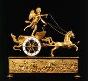 aniołów antyka zegaru konie fotografia royalty free