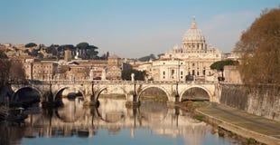 aniołów bazyliki mosta Peter Rome s st Obraz Royalty Free
