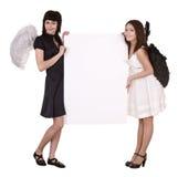 aniołów sztandaru para Fotografia Stock