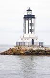Anioł bramy latarnia morska Zdjęcia Royalty Free