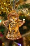 Anioł choinki dekoracja obrazy stock