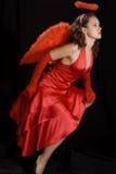 anioł czerwony Zdjęcia Royalty Free