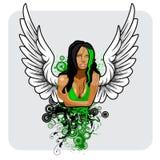 Anioł dziewczyny projekt Obrazy Stock