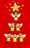 aniołeczek choinka ilustracji