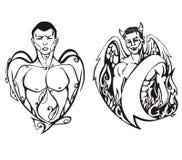 Anioł i diabeł Zdjęcie Royalty Free