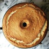Anioła jedzenia tort Zdjęcie Royalty Free