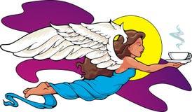 anioł kawa Zdjęcie Royalty Free