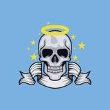 Anioł kierownicza czaszka zdjęcie stock
