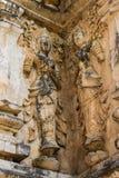 Anioł na ścianie w Chedi, wata Ched yod w Chiangmai Zdjęcie Stock