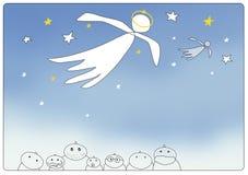 anioł pocztówka royalty ilustracja
