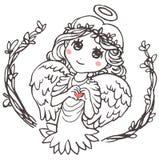 Anioł Pokazuje palca serce Zdjęcie Stock