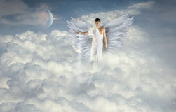 Anioł Robi chmurom Zdjęcia Stock