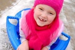 anioł sledding Zdjęcie Royalty Free