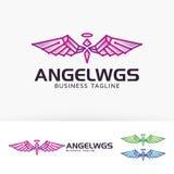 Anioł Uskrzydla loga projekt Zdjęcia Royalty Free