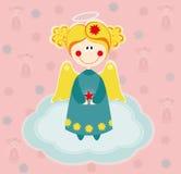 Anioł uskrzydla na chmurze Obraz Royalty Free