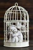 Anioł w birdcage Zdjęcie Royalty Free