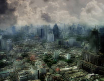 anioł widok miasta zdjęcie royalty free