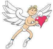 Anioł z sercem Fotografia Royalty Free