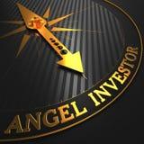 Anioła inwestor - Złota Cyrklowa igła Obrazy Stock