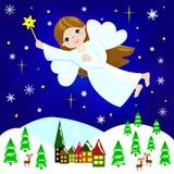aniołów boże narodzenia odizolowywali biel Obraz Royalty Free