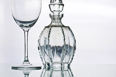 Anique Crystal Glasses Stock Photo