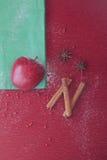 Anis και κανέλα μήλων Χριστουγέννων Στοκ Φωτογραφία