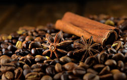 Anis, καφές και κανέλα Στοκ Φωτογραφία
