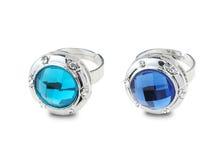 Anéis azuis Fotografia de Stock Royalty Free