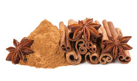 Anis and cinnamon Stock Images