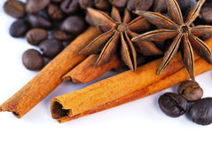Anis, coffee and cinnamon Royalty Free Stock Image