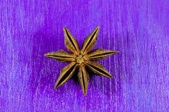Anis d'étoile sur le fond en bois Image libre de droits