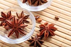 Anis d'étoile sur une surface en bois Photographie stock libre de droits