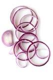 Anéis de cebola vermelha   Foto de Stock Royalty Free