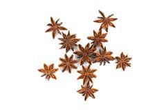 Anis de estrela chinês, anis de estrela, anis de estrela, Badiane, Badian, Badian Khatai, Bunga Lawang, Thakolam Foto de Stock